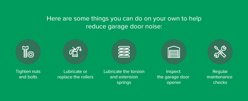 Eliminating Garage Door Noise